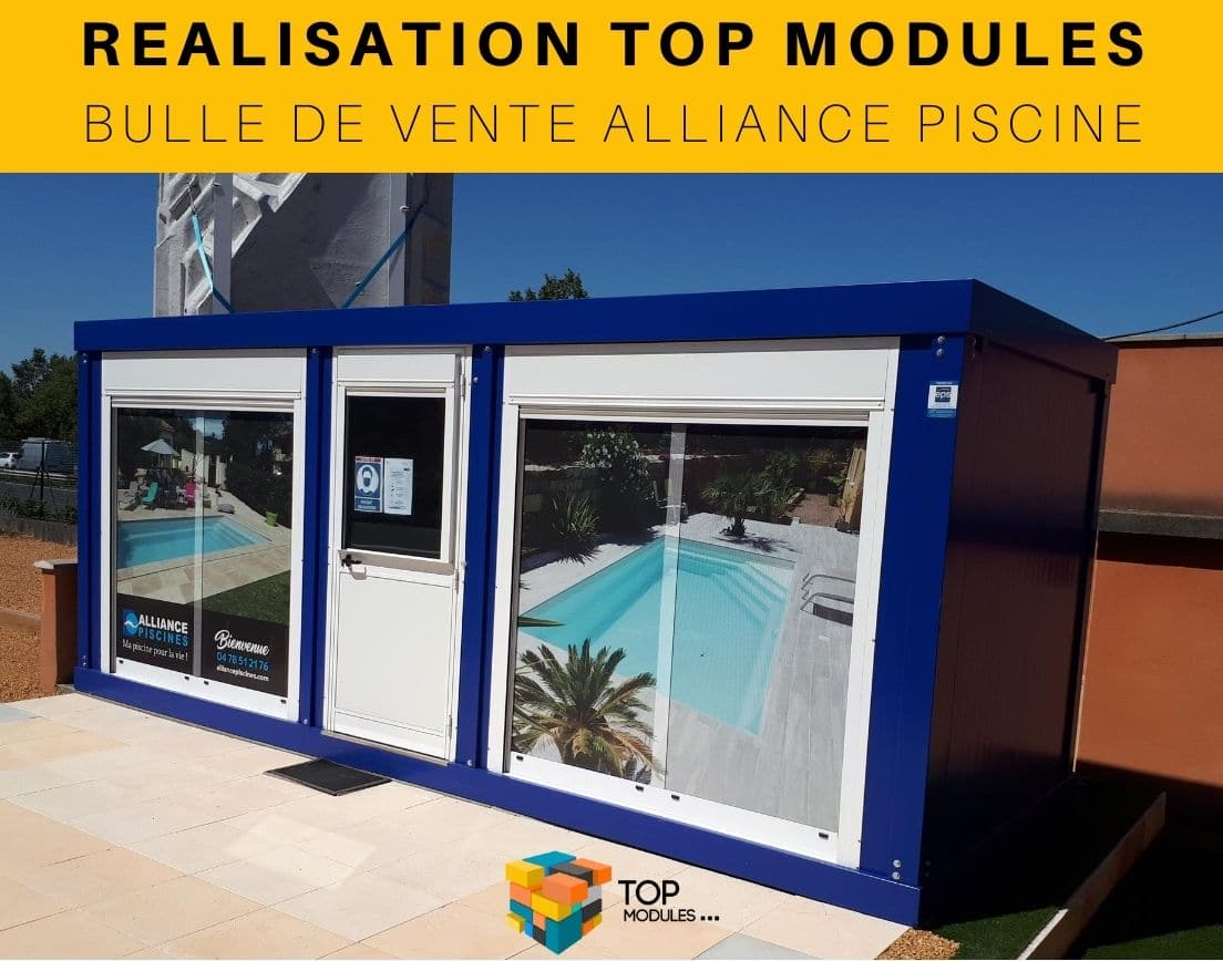 Réalisation Bungalow bulle de vente Alliance Piscine 3